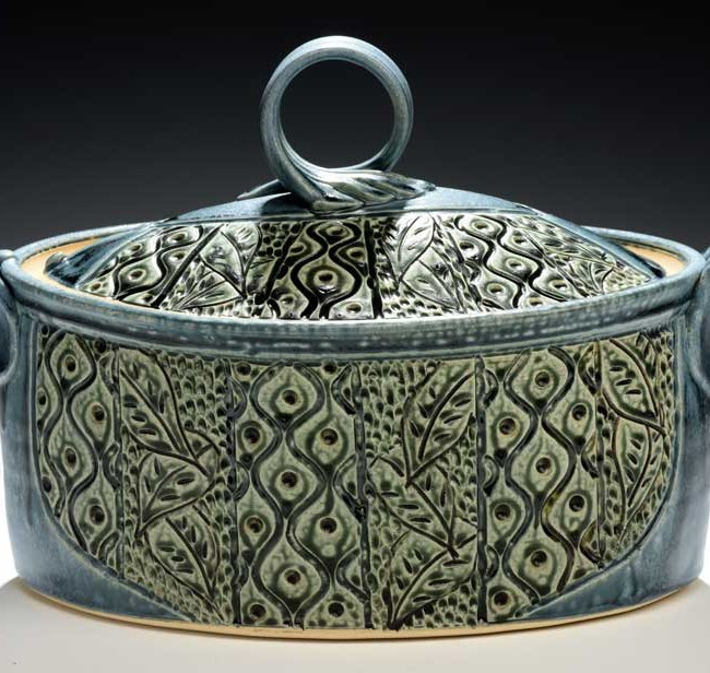 Large Oval Casserole, Teal