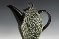 Teapot, Black & Green